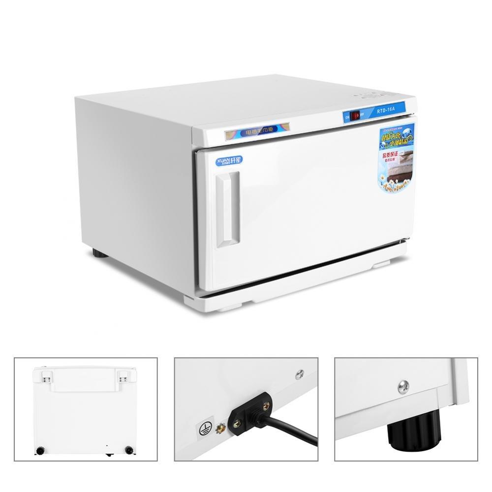 Calentador de toallas UV Esterilizador Gabinete Salón de belleza 16L 200 W Desinfección Calentador de uñas caliente Herramienta de cuidado de la salud ...