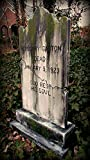 BACK FROM THE GRAVE Halloween Prop Gregory Gaston Tombstone Haunted House Cemetery Gravestone