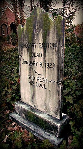 High End Halloween Decorations (Halloween Prop GEORGE GRIMSLY TOMBSTONE Haunted House Cemetery Gravestone BACK FROM THE GRAVE)