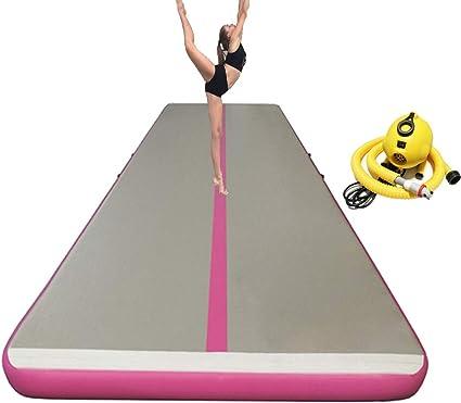 Xiaguang Rosa airtrack Colchoneta Hinchable para animadoras y gimnastas, se Puede Usar en la Playa, en el Agua (Rosa, 6mLx2mWx0.2mH): Amazon.es: Deportes y aire libre