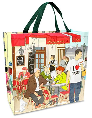 I Heart Paris Shopper Bag Tote Bag 16 x (Paris Shopper)