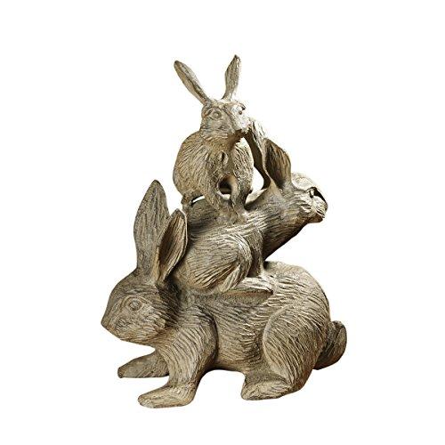 Design Toscano Bunched Bunnies Cast Iron Statue, Bronze