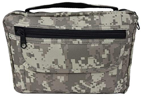 Garrison Grip Quality Canvas Digital Camo Concealed Carry Bible Cover Gun Case or Day Planner Cover Gun Case
