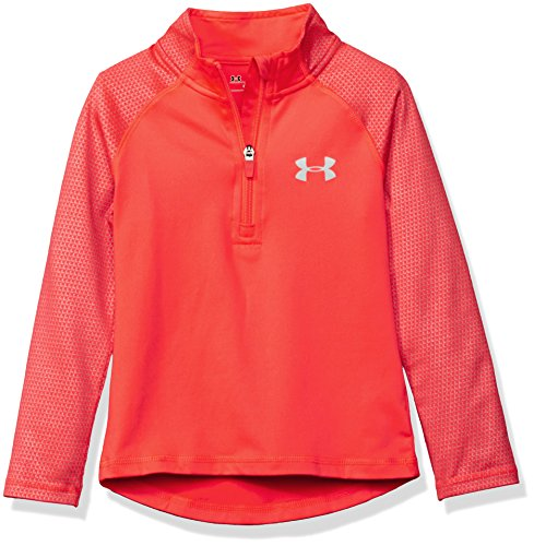 Under Armour Little Girls' 1/4 Zip Long Sleeve Pullover, Pink Chroma, 6