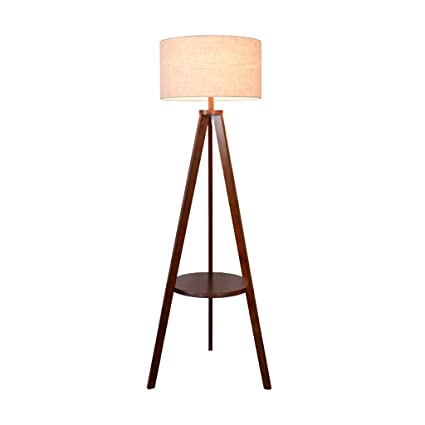 Floor lamp, living room solid wood floor lamp, bedroom ...