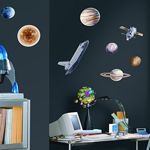 Room Mates Studio Designs 24 Piece Space Travel Wall Decal Set by RoomMates
