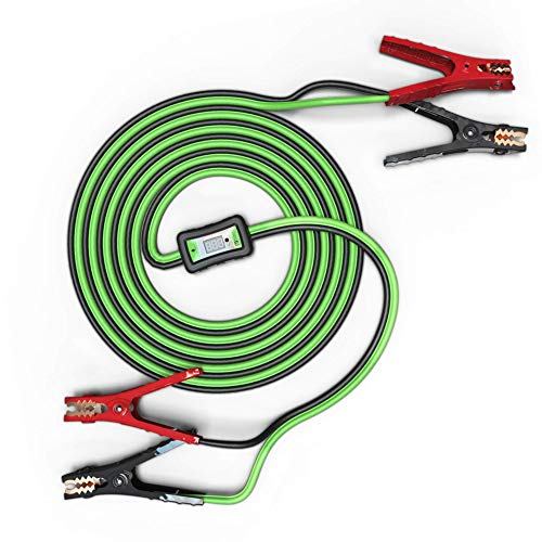- MYCHANIC Smart Cables | 6 Gauge 12 Feet Jumper Cables and Voltage Meter with Reverse Polarity Protection for Cars, Trucks and SUVs