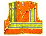 Ergodyne GloWear 8245PSV ANSI High Visibility Orange Breakaway Public Safety Vest, 2X-Large/3X-Large