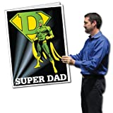 VictoryStore Jumbo Greeting Cards: Giant Father's Day Card (Superhero) 2' x 3' card with envelope