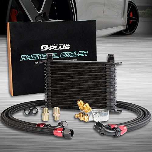 GPLUS 15 Row Thermostat Adaptor Engine Racing Oil Cooler Kit For Car/Truck (Oil Cooler Kit Racing)