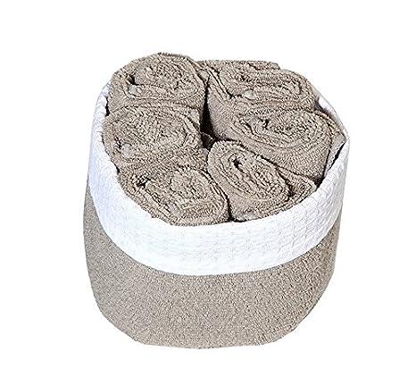 Microfibra toallas de tocador de en una cesta - Set de 6 toallas: Amazon.es: Hogar