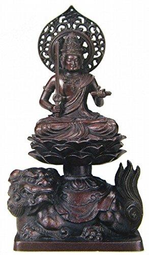 『文殊菩薩』青銅製 仏像 観音菩薩 卯 ブロンズ フィギュア【オブジェ 置物】【R2246】 B079R9KHG9
