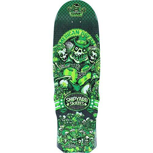 Shipyard Skates SWF American Dream Green Old School Skateboard Deck - 9.5