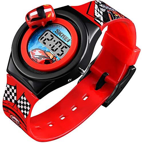 Kids Digital Watch Silicone Band Waterproof Cartoon Wristwatches for Children Toddler Birthday Gift Toy Boys Girls Little Child