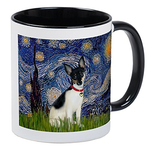 CafePress Starry Night & Rat Terrier Mug Unique Coffee Mug, Coffee Cup
