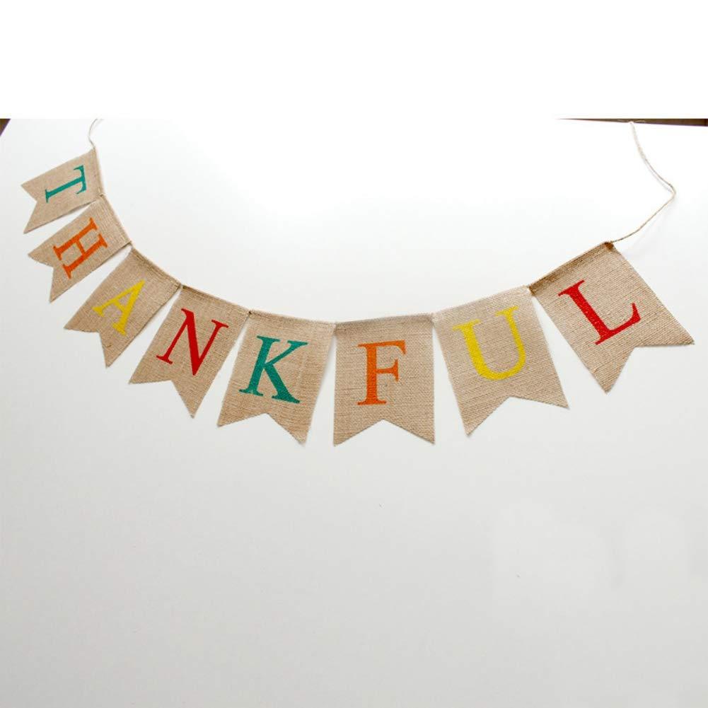 MiyaSudy Thanksgiving Card Flag Day Thank You Card Wedding Banner Bunting Photo Prop Garland Banner Wedding Party Gift