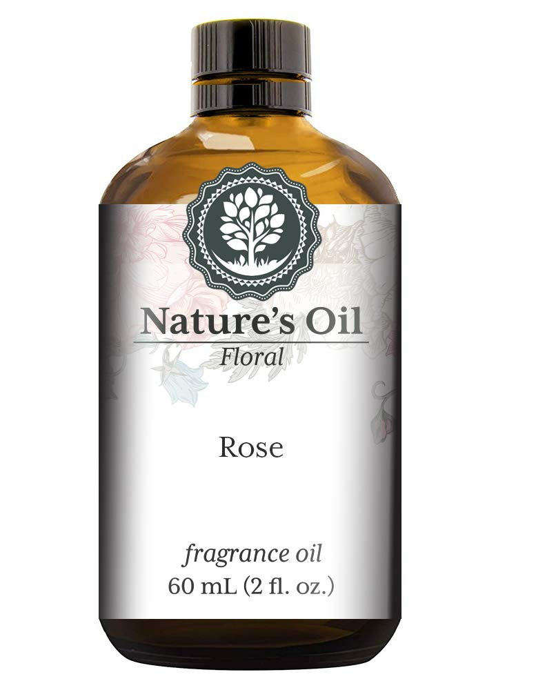Rose Fragrance Oil (60ml) For Diffusers, Soap Making, Candles, Lotion, Home Scents, Linen Spray, Bath Bombs, Slime