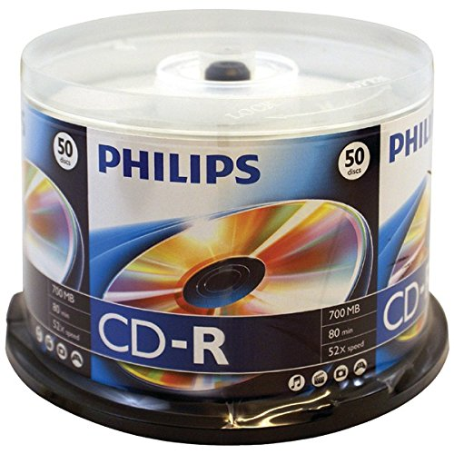 Philips D52N600 700MB 80-Minute 52x CD-Rs (50-ct Cake Box Spindle) by Philips