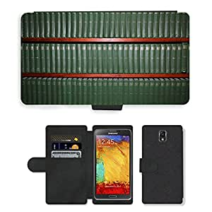 PU LEATHER case coque housse smartphone Flip bag Cover protection // M00152188 Fondos de lectura Libros Verde // Samsung Galaxy Note 3 III N9000 N9002 N9005