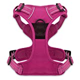 Best Pet Supplies No Pull Front Range Adjustable Harness with 3M Reflective Technology, Large, Fuchsia