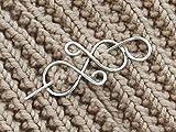 Silver Hair Clip Scarf pin Shawl Pin Hair barrette Hair Clip Hair Stick Western Valentine's Day gift