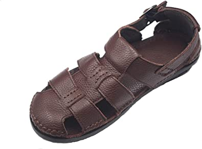 Mens Leather Sandals-Luxury Outdoor