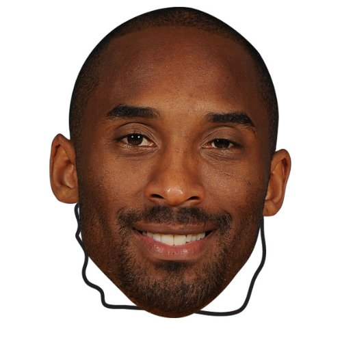 NBA Los Angeles Lakers Kobe Bryant Player Face (The Player Mask)