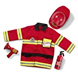 Toys : Melissa & Doug Fire Chief Role Play Costume Set Frustration-Free Packaging Children's