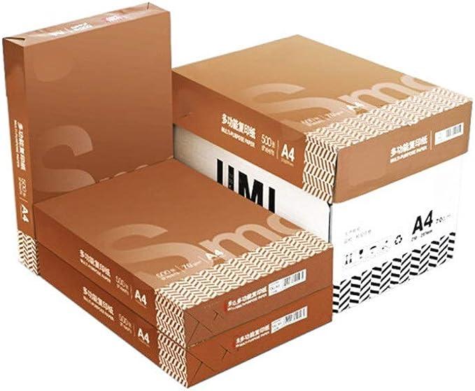 Heqianqian Copia Papel A4 Oficina Multipurpose Paper Suministros FCL Proyecto de Papel Papel en Blanco 10 Ream Caso, 5000 Hojas A4 Imprimir Copia en Papel Papel De Copia De Oficina: Amazon.es: Hogar