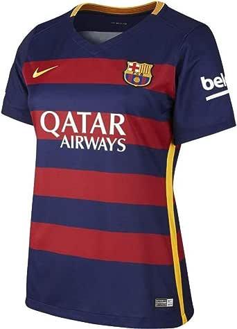 NIKE 1ª Equipación Fútbol Club Barcelona 2015/2016 - Camiseta Oficial Mujer, Color Azul/Rojo/Dorado, Talla XL: Amazon.es: Zapatos y complementos