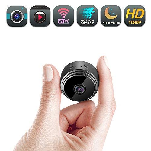 Cámara oculta WiFi con imán y cámara espía inalámbrica portátil 1080P para vigilancia de seguridad interior - 150 ° de...