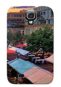 Ellent Design Nice Flower Market Case Cover For Galaxy S4 For New Year's Day's Gift