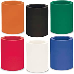 Koozie Thick Foam Can Cooler | The Original Koozie for Beer Cans & Bottles | Blank Bulk DIY Insulated 12 oz Non-Collapsible Holder | Personalized Gifts for Events, Weddings, Parties (6 Pack) Assorted