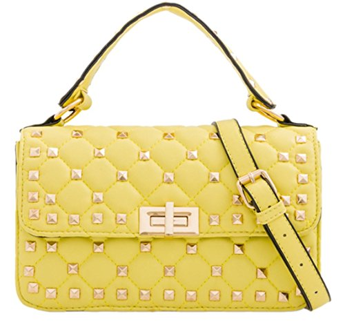 Girly HandBags Quilted Mini Satchel Yellow