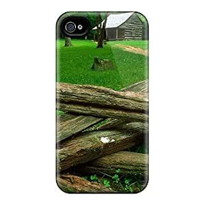 QMu2147nhol Snap On Case Cover Skin For Iphone 4/4s(carter Shields Cabin Cades Cove Great Smoky Mo)