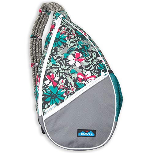 KAVU Paxton Pack Backpack Rope Sling Bag, Painted Floral, One Size