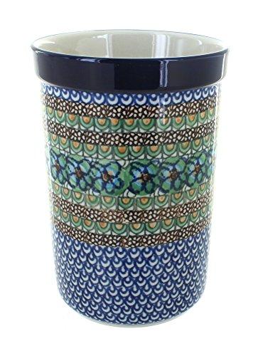 Polish Pottery Mardi Gras Utensil Jar