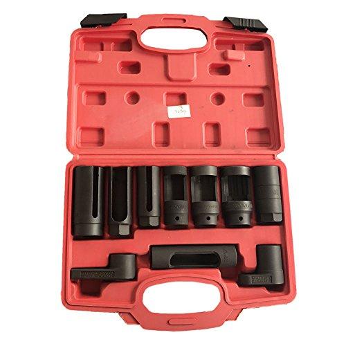 MILLION PARTS 10PC Auto O2 Oxygen Wrench Sensor Socket Set & Oil Pressure Sending Unit Master Socket & Pressure Vacuum Switch Socket Kit Remover Installer Tool ()
