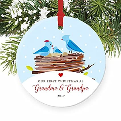 Amazon.com: Christmas Tree Ornaments First Christmas as Grandma ...