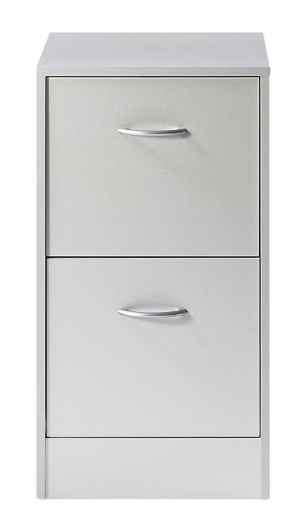 SIMMOB matha412al archivador de 2 cajones para Carpetas Colgantes Madera Aluminio 44 x 41,4