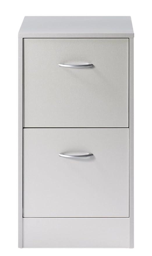 in Legno di ciliegio Dimensioni 44 x 76,40 x 41,4 cm SIMMOB MATHA412MK-Classificatore a 2 cassetti per cartelle sospese