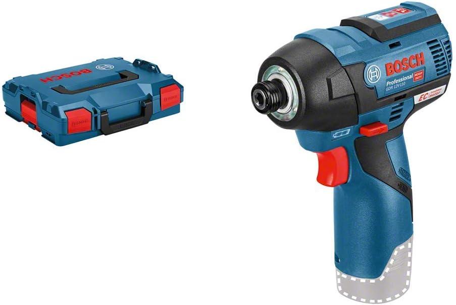Bosch Professional GDR 12V-110 - Atornillador de impacto a batería (sin batería, 12V, 110 Nm, en L-BOXX)