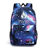 YOYOSHome Luminous Anime RWBY Ruby Rose Cosplay Daypack Bookbag Laptop Backpack School Bag (Blue 3)