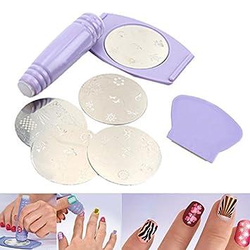 Buy salon nail art express decals stamp stamping polish design kit salon nail art express decals stamp stamping polish design kit set decoration prinsesfo Choice Image