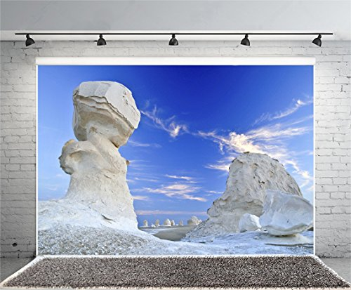 p Laeacco 8x6FT Vinyl Photography Background Egypt Thunderlike Cloud Among Limestone Rocks Eroded by Wild Desert Nature Background Video TV Live Shoot Background Props ()