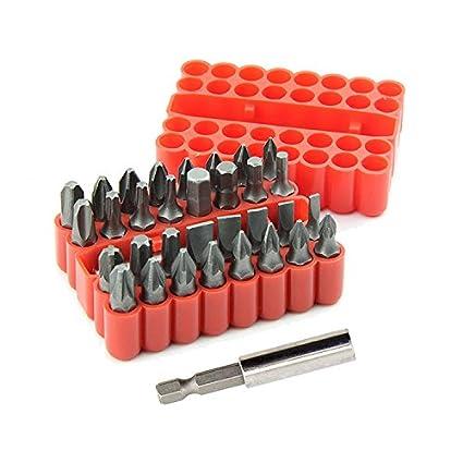 33 piezas Juego de puntas para destornillador de acero cromo vanadio ...