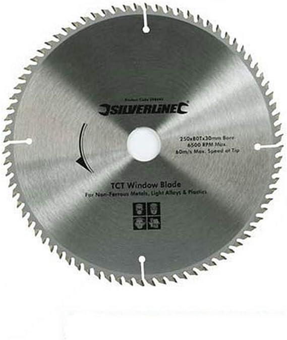 TCT UPVC Window Chop Mitre Saw Blade 80T 250 x 30mm rings 25 20 16 mm Alloy