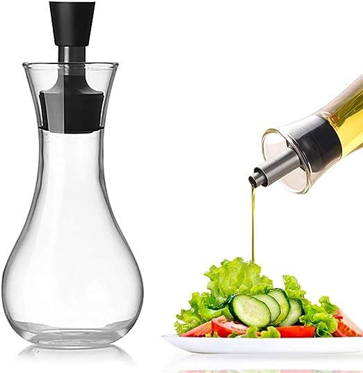 TOPOFU Aceitera antigoteo cristal 250 ml | Botella Aceite Oliva | Aceitera Especias | Aceitero Anti Goteo| Aceitero de Cristal: Amazon.es: Hogar