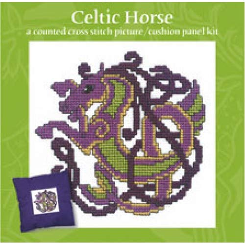 Textile Heritage Celtic Horse Cross Stitch Kit Discontinued Design - Includes Aida, Floss, Needle, Pattern, Instructions Made in Scotland