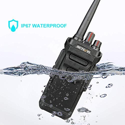 Retevis RT48 Walkie Talkie for Adults Long Range IP67 VOX Monitor Scrambler Security Walkie Talkies Waterproof (2 Pack) by Retevis (Image #1)
